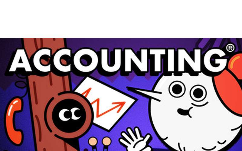logo for the virtual reality game Accounting