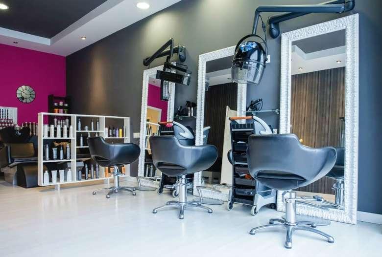 three seats at a beauty salon