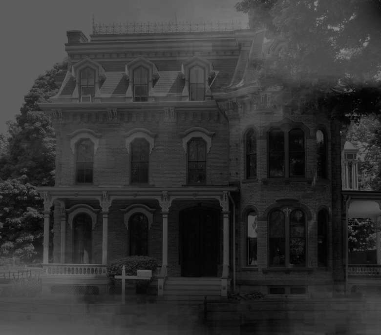 a spooky looking house