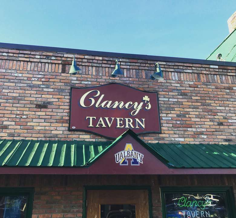 exterior of clancy's tavern