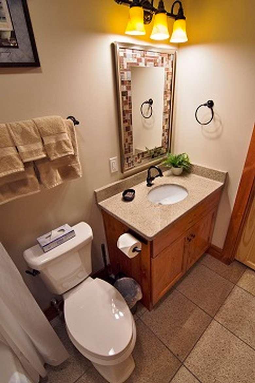 bathroom inside a rental cottage