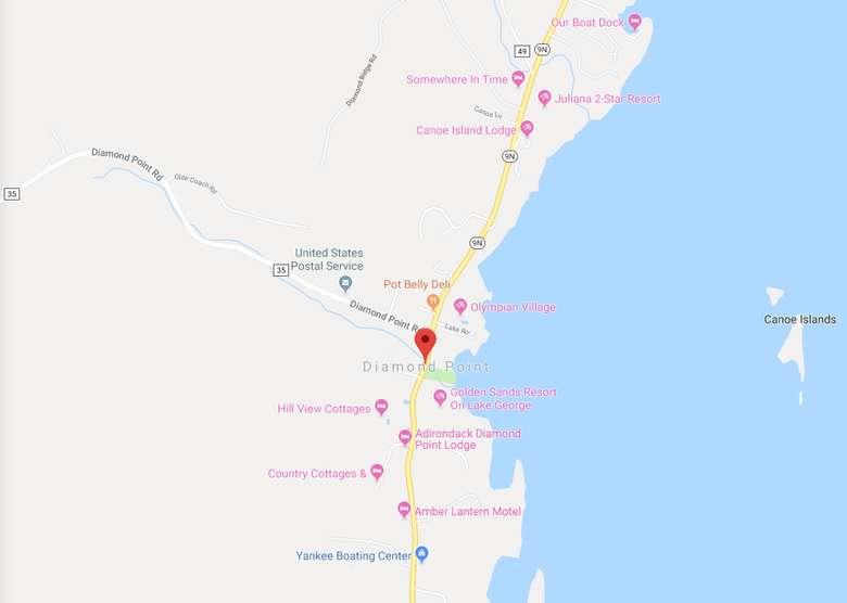 map of Diamond Point, NY