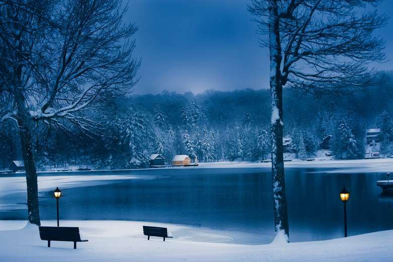 Winter on Old Forge Pond