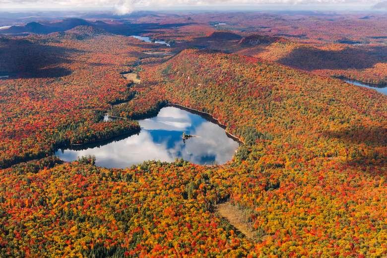 Moss Lake during fall