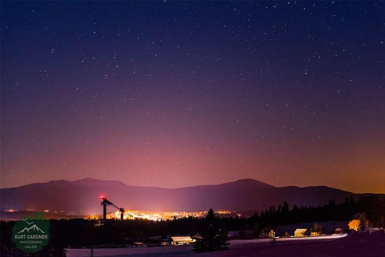 Lake Placid under the stars