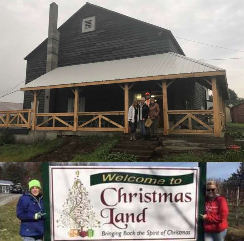 the facility and sign for Christmas Land LLC