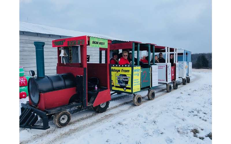 a small winter train for kids