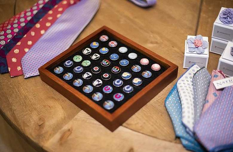 cufflinks on table