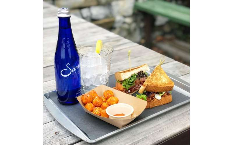 brunch on patio