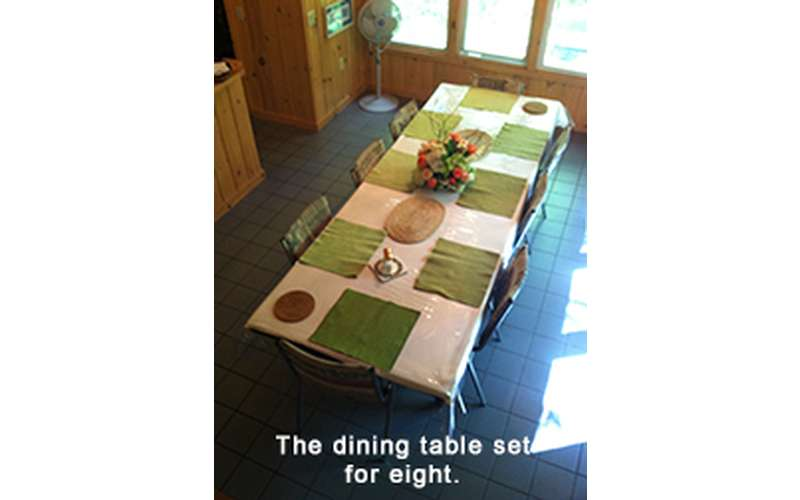 a rectangular dining room table