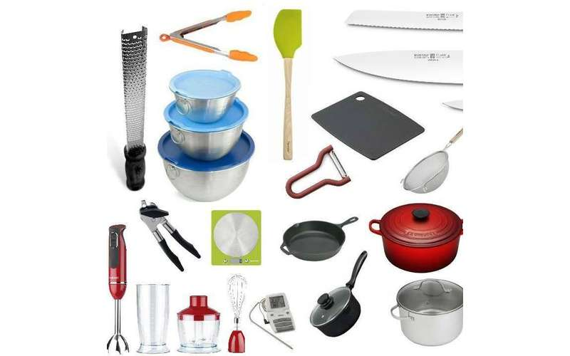 a wide array of kitchen tools and gadgets