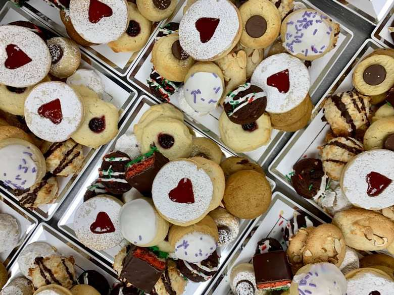 collection of cookies on trays