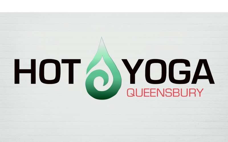 slightly different Hot Yoga Queensbury logo