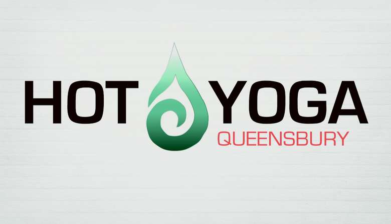 slightly different Hot Yoga Queensbury logo