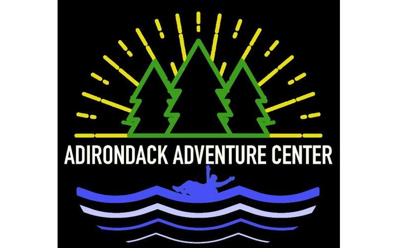 the logo for adirondack adventure center