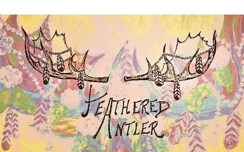 the colorful logo for feathered antler
