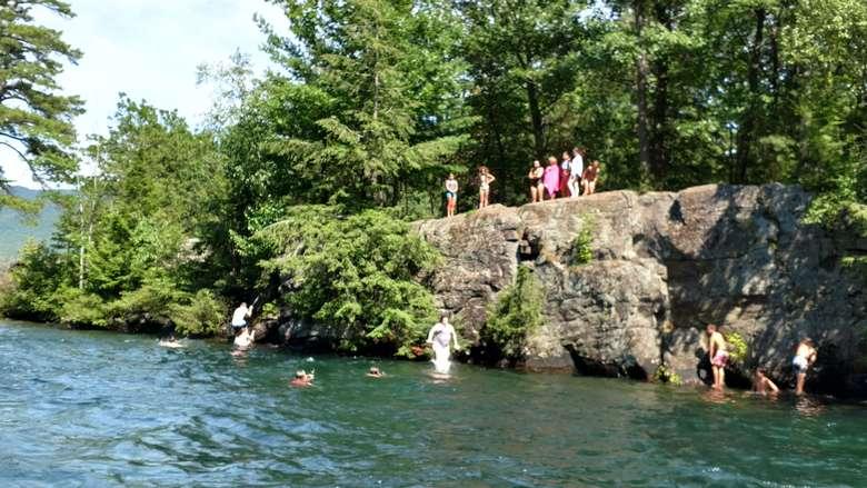 Dollar Island cliffs