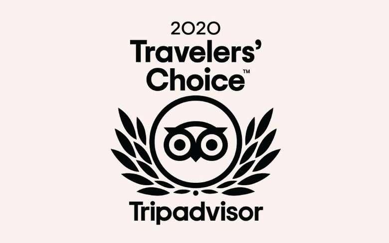 logo that says 2020 travelers choice tripadvisor