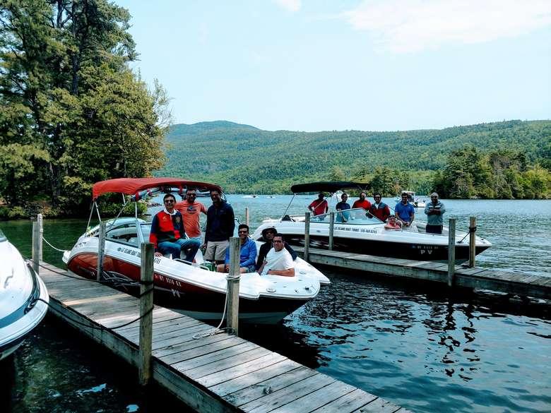 Double boat tour bachelor party
