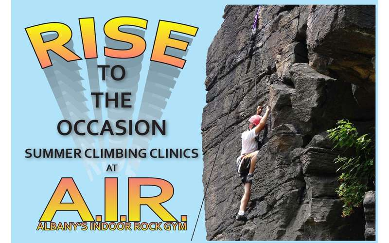 summer climbing clinics promo image