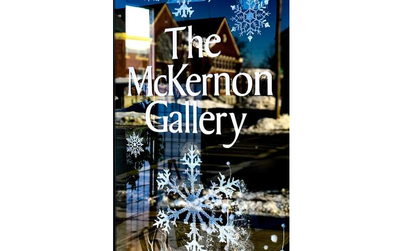 the storefront for the mckernon gallery