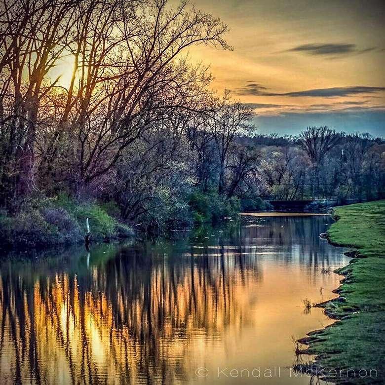 photo of a calm river scene