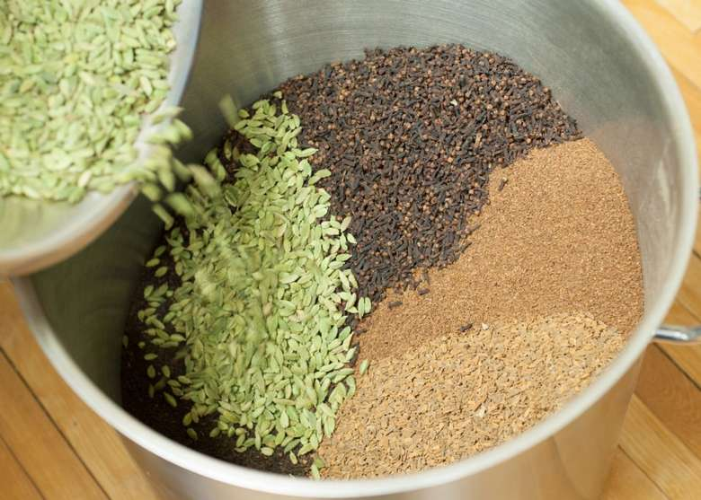 a tea blend of green, black, and brown