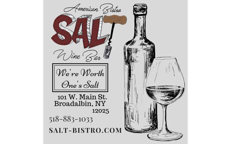the logo for salt american bistro and wine bar