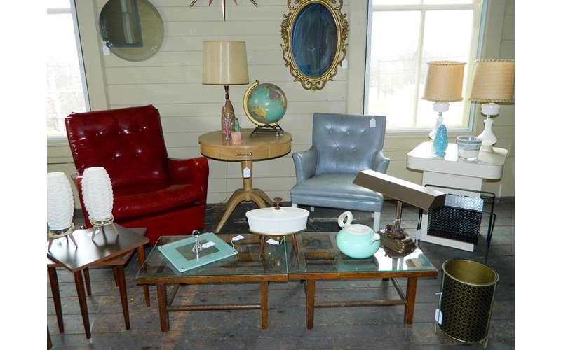 chairs and home decor on display