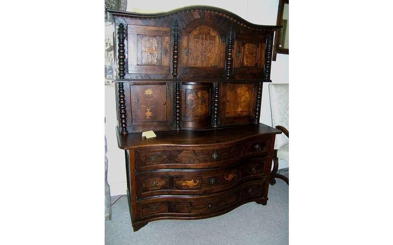 an elaborate dresser
