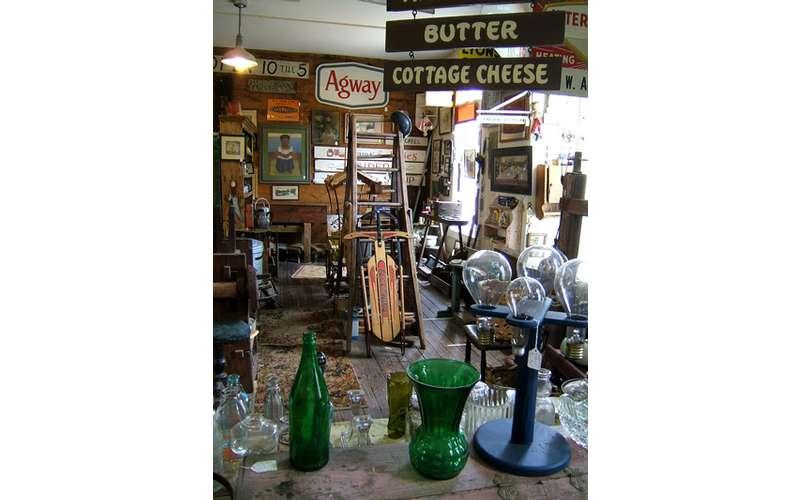 antiques in an antique shop
