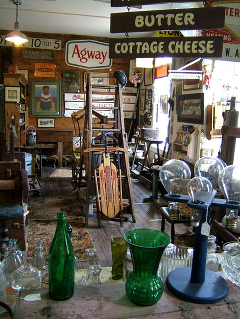 antiques in an antique shop