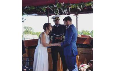 wedding vows on Adirondack Cruise & Charter boat