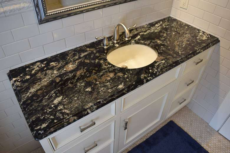 bathroom sink countertop