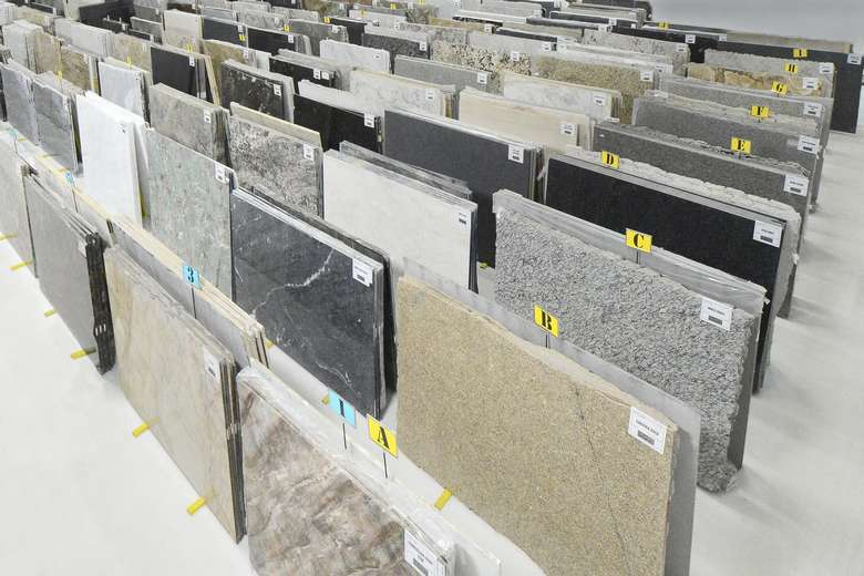 Granite & Marble Works, Inc stone slab selection
