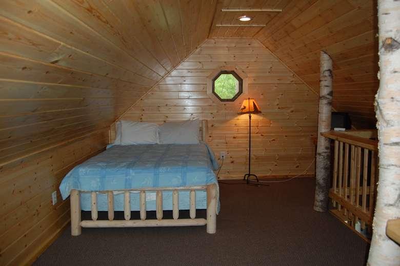bedroom in Adirondack Beach House