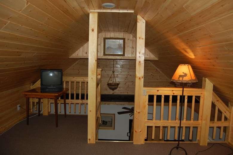 loft bedroom in Adirondack Beach House