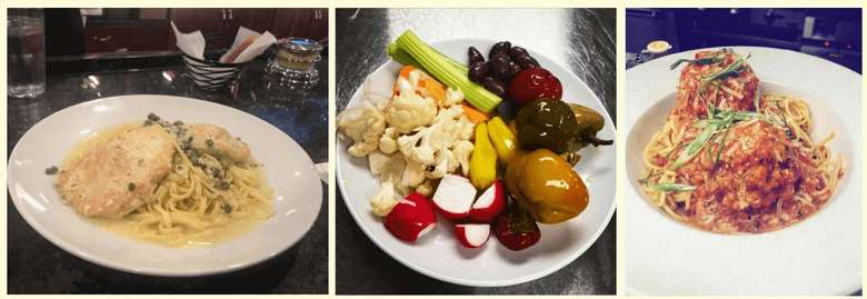 collage of three photos of food