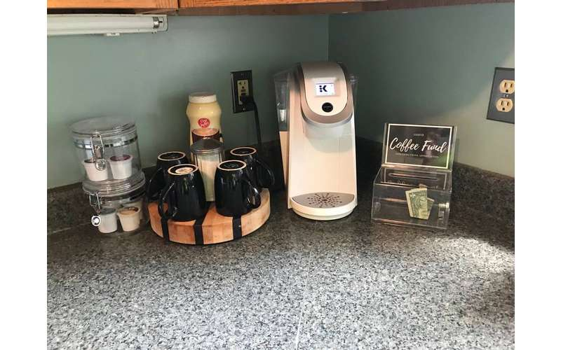 coffee station on countertop
