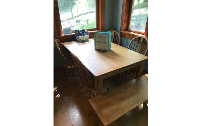 dining room table in 2-Bedroom House Rental