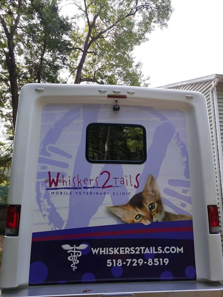 back of Whiskers2Tails Mobile Veterinary Clinic