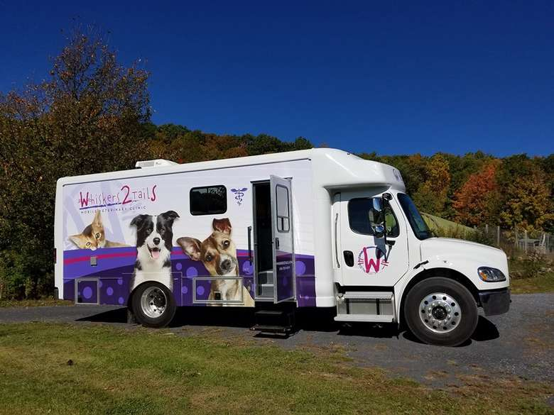 exterior of Whiskers2Tails Mobile Veterinary Clinic