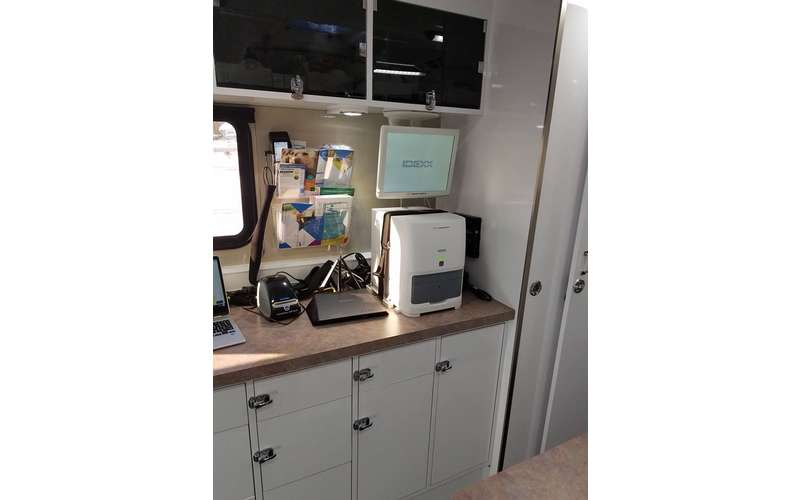 interior equipment of Whiskers2Tails Mobile Veterinary Clinic.