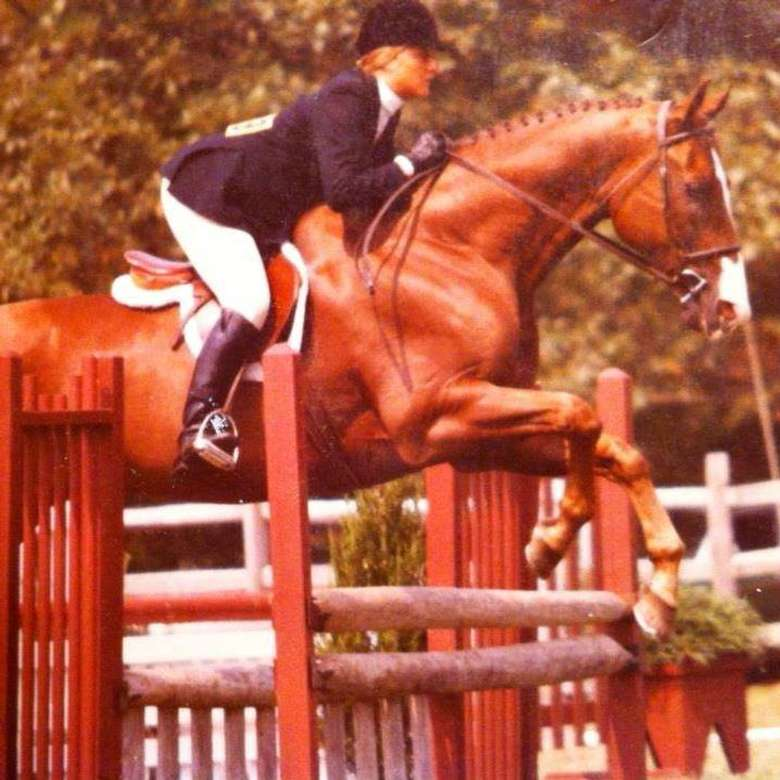 Riding Instructor Whitney Mulqueen Showing in Cape Cod, MA as a Junior on the New England circuit