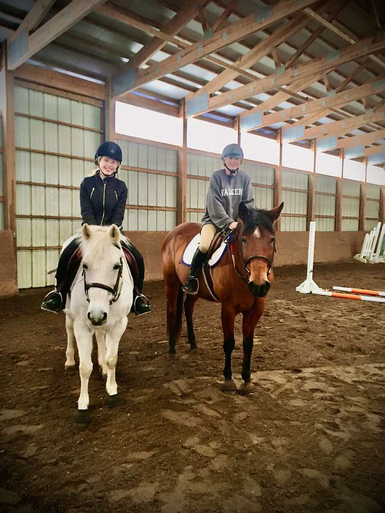 Lauren on Emma the Wonder Pony and Charlie on Sommerwind