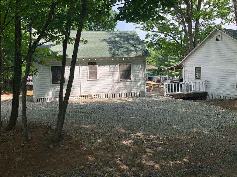 back shot of cabins at 30 Sagamore Road