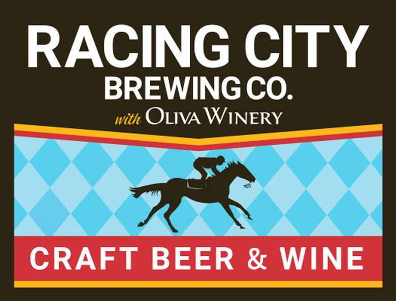 racing city brewing co. logo with oliva winery logo