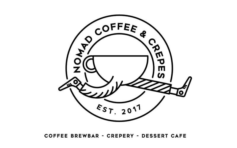 logo for nomad coffee and crepes