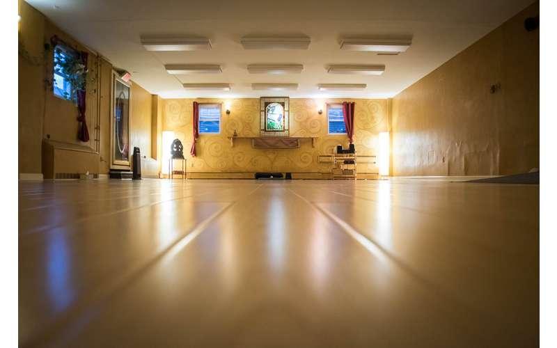 an empty yoga studio