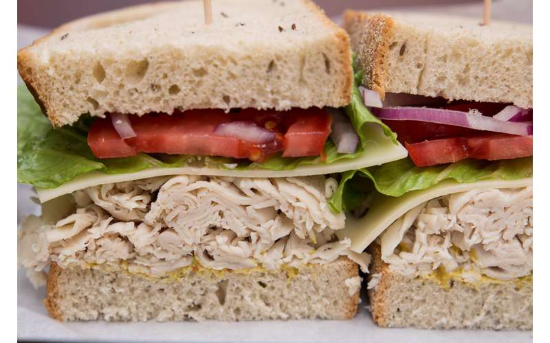 sandwich with meat and veggies